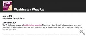 Washington Wrap Up